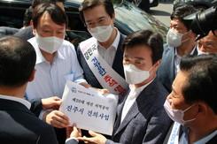 윤석열 후보 진주 중앙시장 방문…
