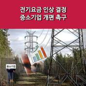 [카드] 전기요금 인상 결정 중소기업 개편 촉구
