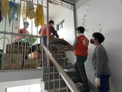 해운노조협회, 부산 취약층 집청소 봉사 펼쳐