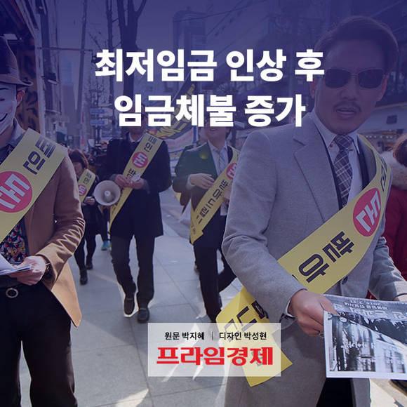[카드뉴스] 최저임금 인상 후 임금…