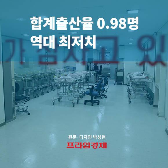 [카드뉴스] 합계출산율 0.98명 역…
