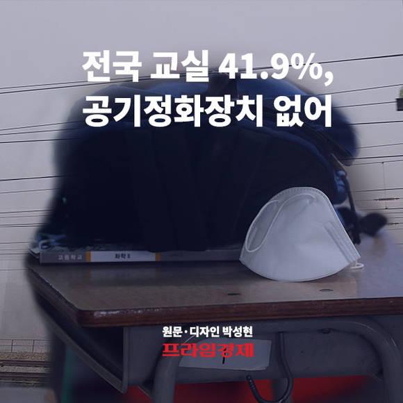 [카드뉴스] 전국 교실 41.9%, 공기…