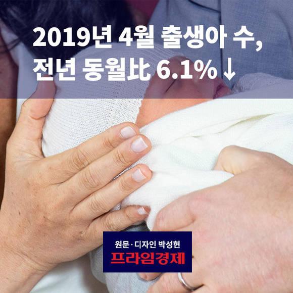 [카드뉴스] 2019년 4월 출생아 수…